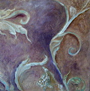 Fauna Mixed Media Metal Prints - Floral Texture Metal Print by Jessica Stuntz