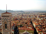 Florence Framed Prints - Florece View From The Top Of The Dome Framed Print by Francisco Goncalves
