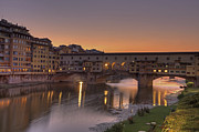 Old Town Photo Framed Prints - Florence - Ponte Vecchio Framed Print by Joana Kruse