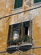 Photorealistic Painting Posters - Florence Balcony Poster by Jiji Lee