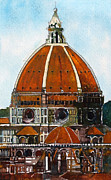 Religious Art Paintings - Florence Cathedral by David Carlson