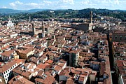 Dany Lison Metal Prints - Florence from above Metal Print by Dany Lison