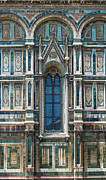 Florence Italy - Duomo Stained Glass Print by Gregory Dyer