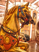 Florence Italy Carousel- 01 Print by Gregory Dyer