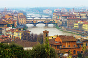 High Angle View Framed Prints - Florence Italy Framed Print by Photography By Spintheday