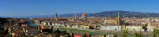 Snow On Mountains Framed Prints - Florence Panorama Framed Print by Kenton Smith