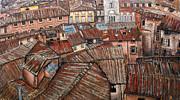Florence Roofs Print by Vladimir Kezerashvili