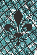 Lino Framed Prints - Florentine Fleur Ginger T Framed Print by Julia Forsyth