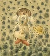 Horror Drawings Posters - Florentius the Gardener21 Poster by Kestutis Kasparavicius