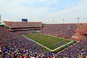 Florida Gators Posters - Florida  Ben Hill Griffin Stadium on Game Day Poster by Getty Images