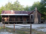 Florida House Photo Originals - Florida Cracker House at Silver River by Warren Thompson