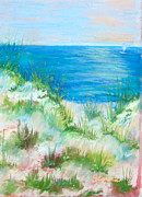 Sailboat Ocean Pastels - Florida Dunes by Georgene Carlton