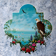 Tropical Paintings - Florida Eagle Window by Keith Stillwagon