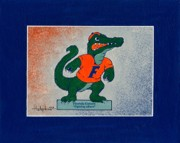 Gators  Paintings - Florida Gators Fighting Albert by Herb Strobino