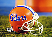 Athletic Framed Prints - Florida Gators Football Helmet Framed Print by Getty Images