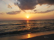 Beach Sunsets Digital Art Framed Prints - Florida Has the Best Sunsets Framed Print by Bill Cannon