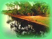River View Metal Prints - Florida Landscape Metal Print by Susanne Van Hulst