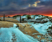 Sand Fences Prints - Florida Mountain Print by Joetta West