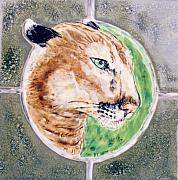 Relief Ceramics Prints - Florida Panther Print by Dy Witt