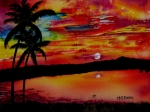 Florida Paintings - Florida Sunset by Maria Barry