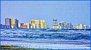 Shoreline Mixed Media Prints - Florida Turbulence Print by Deborah Benoit