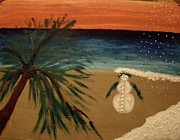 Snow Drifts Painting Posters - Floridas Secret Christmas Eves Poster by Marie Bulger