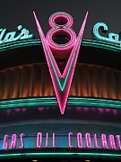 Night Cafe Posters - Flos Cafe - Radiator Springs Cars Land - Disney California Adventure - 5D17748 Poster by Wingsdomain Art and Photography