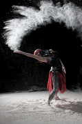 Action Photo Photos - Flour Dancing Series by Cindy Singleton