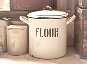 Old Objects Posters - Flour tin Poster by Tom Gowanlock