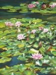 Water Pastels Prints - Flourishing Above the Surface Print by Ariel Freeman