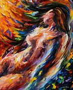 Naked Metal Prints - Flow Of Love Metal Print by Leonid Afremov
