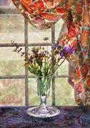 Spring Scenes Acrylic Prints - Flower - Flower - A vase of flowers  Acrylic Print by Mike Savad