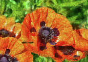 Spring Scenes Metal Prints - Flower - Poppy - Orange Poppies  Metal Print by Mike Savad