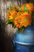 Flower Artwork Prints - Flower - Sunflower - Country Sunshine Print by Mike Savad