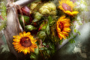 Earth Day Prints - Flower - Sunflower - Gardeners toolbox  Print by Mike Savad