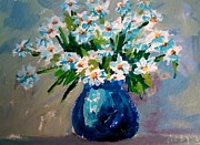 Flower Still Life Prints Posters - Flower arrangement III Poster by Patricia Awapara