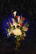 Flower Posters Prints - Flower Arrangement Painting Print by M K  Miller