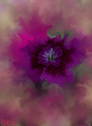 Flower Posters Digital Art - Flower Aura by Todd Androy