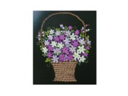 Jasmine Tapestries - Textiles - Flower basket by Marita Rajarathne