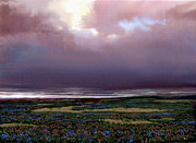 Rain Digital Art - Flower Beach by Robert Foster