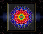 Circle Mandalas Framed Prints - Flower Bliss Framed Print by Thomas Hemenway