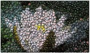 Montage Mixed Media - Flower Bottle Cap Mosaic by Paul Van Scott