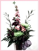 Acrylic Digital Art Acrylic Prints - Flower Bouquet Acrylic Print by Marsha Heiken