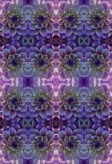 Digitally Altered Prints - Flower Carpet Print by Robert Ullmann