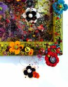 Flower Reliefs Prints - Flower Doodle Detail Print by Lizzie  Johnson