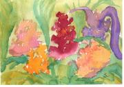 Peach Originals - Flower Garden Abstract by Warren Thompson