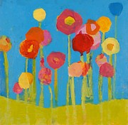 Flowers Mixed Media Posters - Flower Garden Poster by Laurie Breen