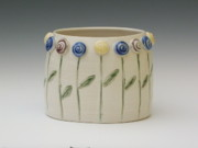 Landscapes Ceramics - Flower Garden by Sylvia Shirley