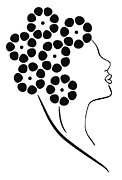 Silhouette Drawings - Flower girl by Frank Tschakert