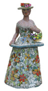 Mosaic Sculpture Posters - Flower Girl Poster by Katia Weyher